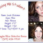 Leah Hickman Disappears. Body Has Been Found.